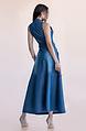 Дълга дънкова рокля без ръкав