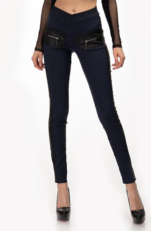 Панталон тип клин в тъмно синьо
