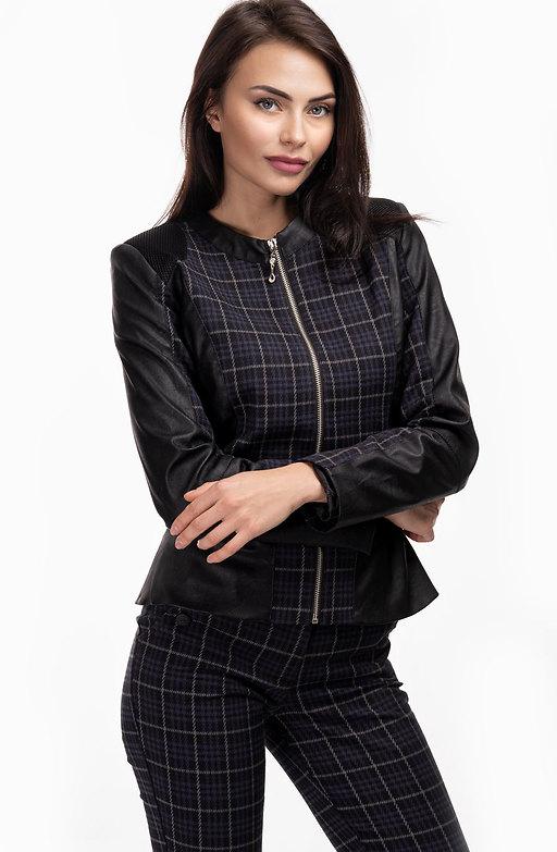 Дамско сако каре с цип