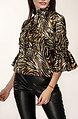 Дамска блуза в тигров десен