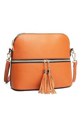 Мини чанта с двоен цип
