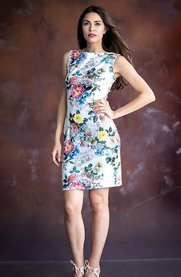 Стилна рокля с флорален принт