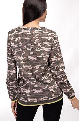 Ватирана блуза в камуфлажен десен