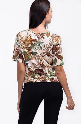 Памучна блузка с флорални мотиви