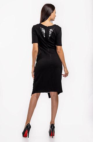 Стилна асиметрична рокля трапец