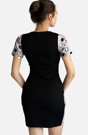 Трикотажна рокля с фигурален принт