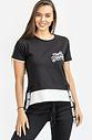 Двуцветна тениска в черно и бяло