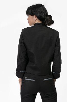 Дамско сако с цветен кант