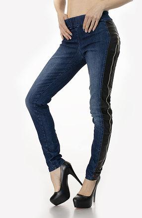 Дънков панталон тип клин с ципове