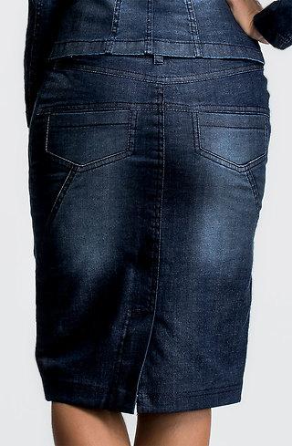 Къса пола от еластичен деним