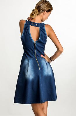 Къса дънкова рокля V