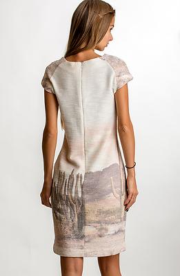 Памучна рокля с къс ръкав