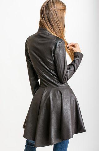 Манто в черно