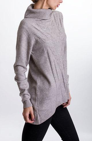 Блуза с поло яка