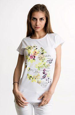 Тениска с цветя