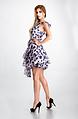 Ефирна рокля с едно рамо