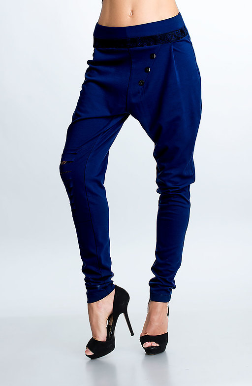Спортно-елегантен панталон тип потур