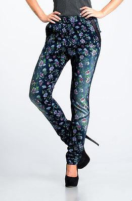 Панталон с висока талия от цветен деним