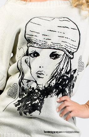 Плетена туника с къс ръкав