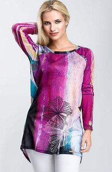 Цветна туника от фино плетиво
