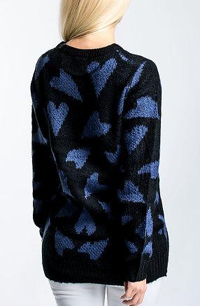 Плетена туника с дълъг ръкав