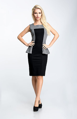 Елегантна рокля в черно и пипи