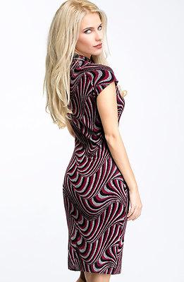 Къса рокля от кашмир с къс ръкав