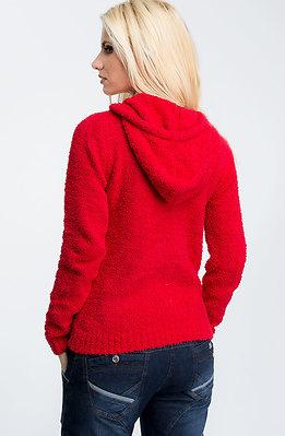 Суичър с качулка в червено