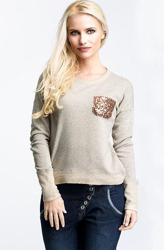Памучна блуза с дълъг ръкав