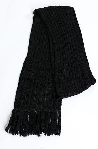 Плетен шал в черно