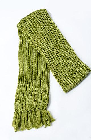 Плетен шал в зелено