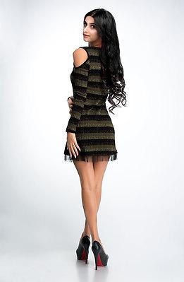 Туника тип рокля от плетиво и тюл
