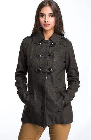 Късо вълнено палтенце