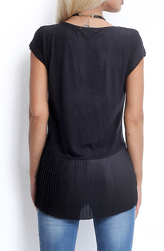 Блуза със солей в черно