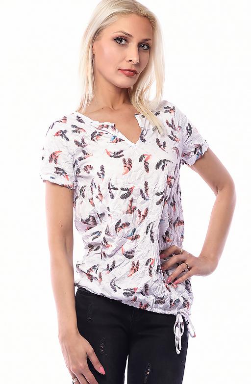 Блуза с намачкан ефект