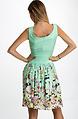 Флорална рокля в цвят мента