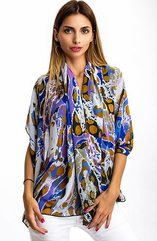 Ефирен цветен шал