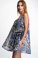 Ефирна къса рокля от мрежа