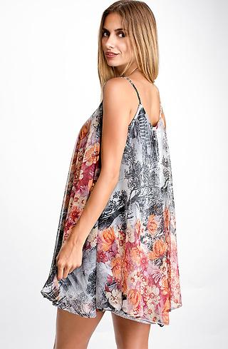 Ефирна къса рокля от мрежа I