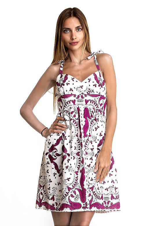 Къса рокля с връзки