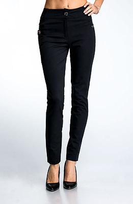 Елегантен дамски панталон в черен десен