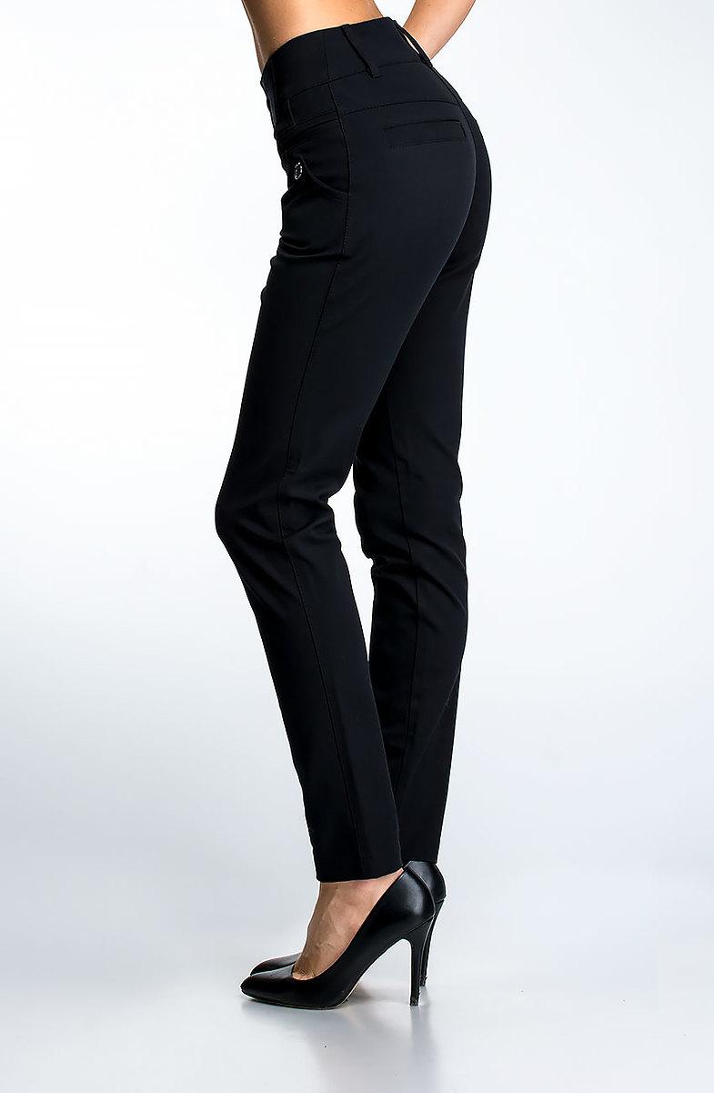 155ed04b66d Елегантен дамски панталон в черен десен