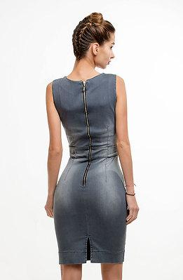Дънкова рокля в сиво