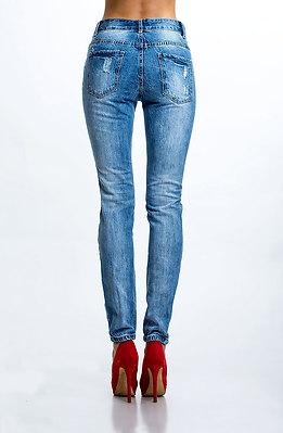 Накъсани памучни дънки I