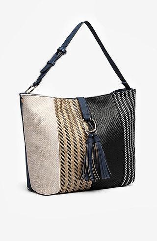 Дамска чанта с многоцветен панел