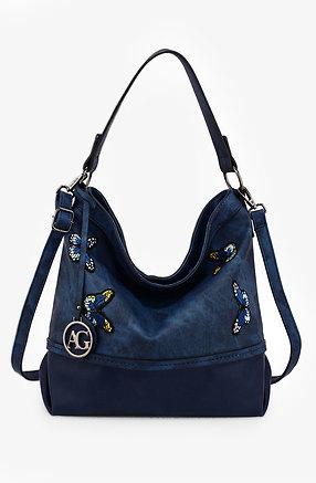 Дамска чанта Butterfly синя