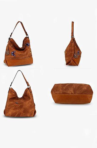 Дамска чанта Butterfly кафява