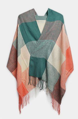 Многоцветен шал с ресни