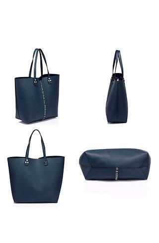 Дамска чанта за рамо в синьо