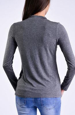 Поло блуза в сив десен